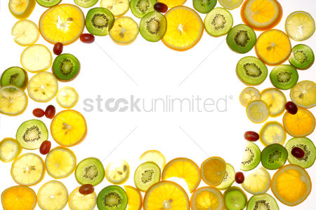 Grapes : Fruit slices with copy space