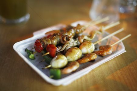 Ready to eat : Grilled seafood kebab