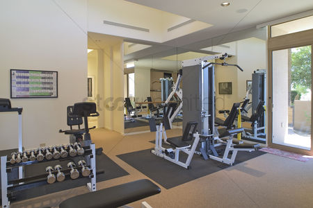 Dumbbell : Gym interior