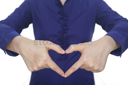 Heart shapes : Hands forming a heart shape
