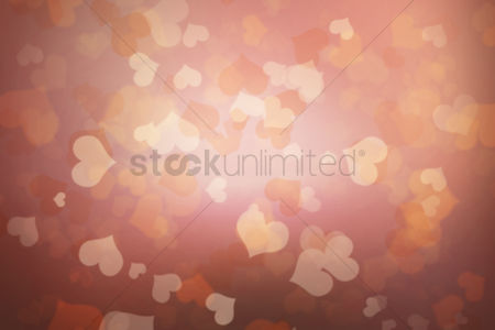 Background abstract : Heart bokeh background design