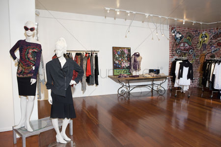 Fashion : Interior of a fashion boutique