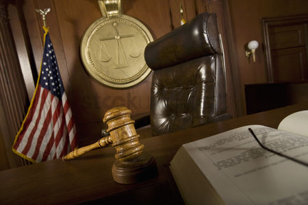 Flag : Judges chair in court room