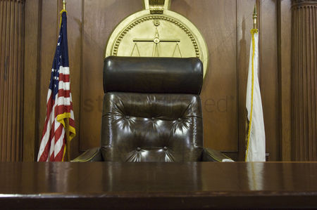 Flag : Judges chair in court