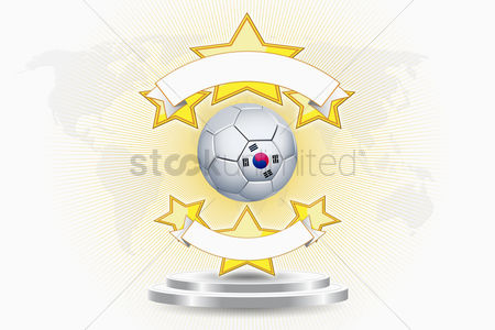 Korea republic : Korea soccer ball emblem