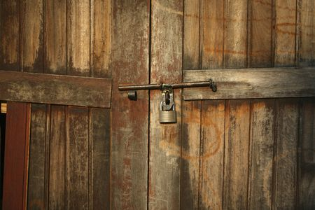No people : Latch on wooden door