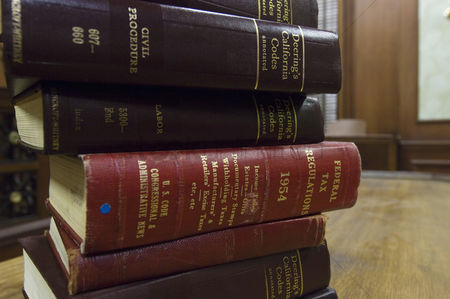 Pile : Legal books in court room