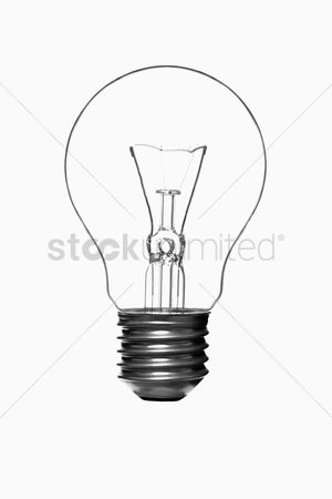 Conceptual : Light bulb against a white background