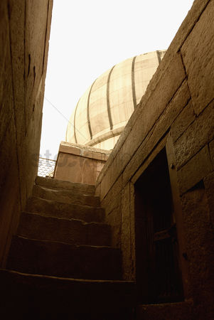 Weathered : Low angle view of stairs in a mosque  jama masjid  new delhi  india  low angle view