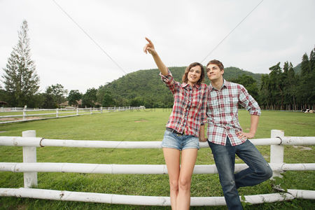 Eastern european ethnicity : Man and woman at the ranch