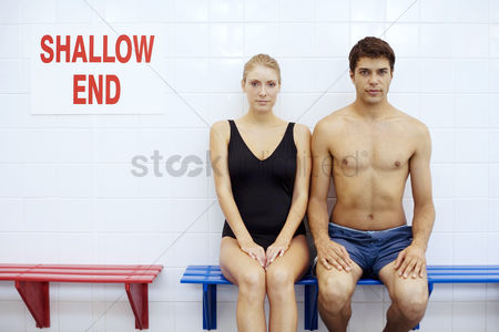 Swimmer : Man and woman in swimming costume