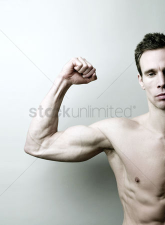 Strong : Man showing off his muscle