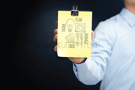 Fix : Man with business planning concept