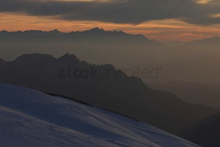 Coldness : Marmolada summit  evening view to the west  italy  dolomites