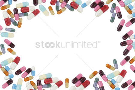 Medication : Medical pills border