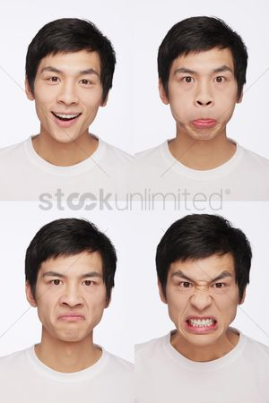 Rage : Montage of man pulling different expressions
