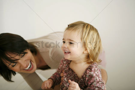 Children playing : Mother and daughter having fun