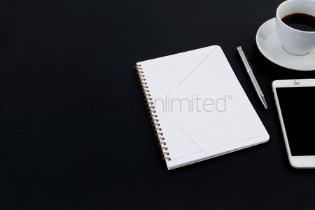 Notebook : Office items concept