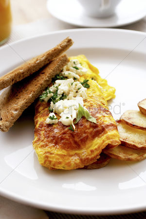 Appetite : Omelette with cream cheese