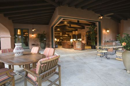 Outdoor : Outdoor room of palm springs hacienda