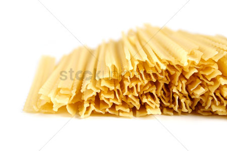Collection : Pasta on white background