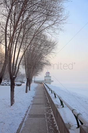 No people : Pier in winter