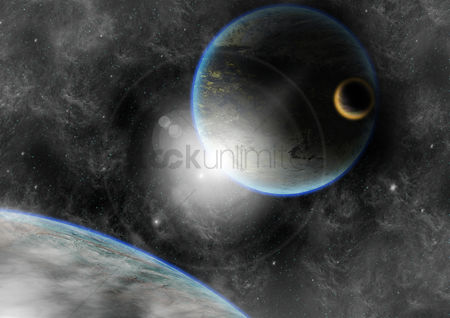 Conceptual : Planet background