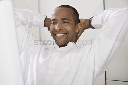 Smile : Pleased businessman