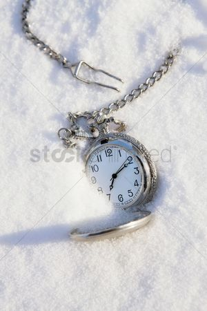 China : Pocket watch in snow