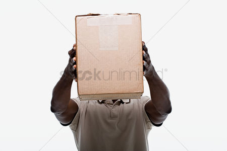 Cardboard cutout : Portrait of a delivery man