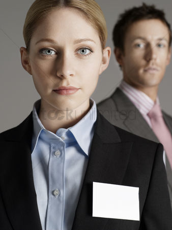 Tidy : Portrait of business man and business woman
