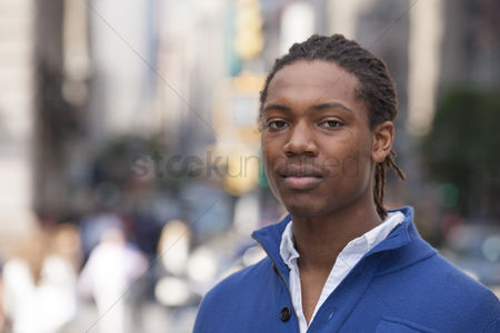 Proud : Portrait of pedestrian in city