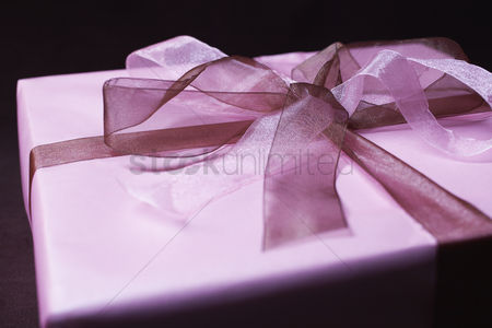 Birthday present : Present with ribbon close-up