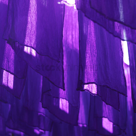 Traditional clothing : Purple cloth at dyer s market