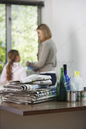 Offspring : Recycling material in kitchen