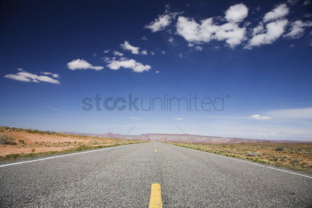 Cloud : Road through desert