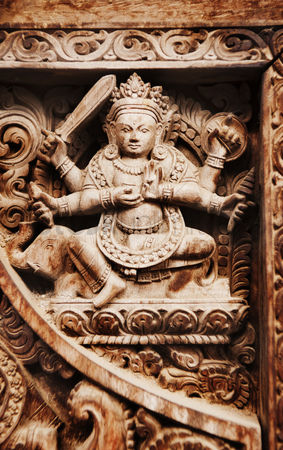 God : Sculpture of hindu god at vishnu temple  hanuman dhoka  durbar square  kathmandu  nepal