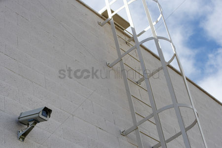 Stairs : Security camera on building