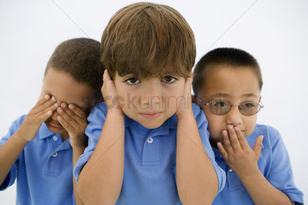 School children : See no evil hear no evil speak no evil