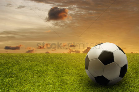 Pitch : Soccer ball on a playing field