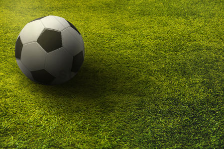 Match : Soccer ball on a playing field