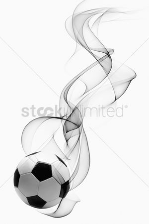 Hexagon : Soccer ball with smoke effect
