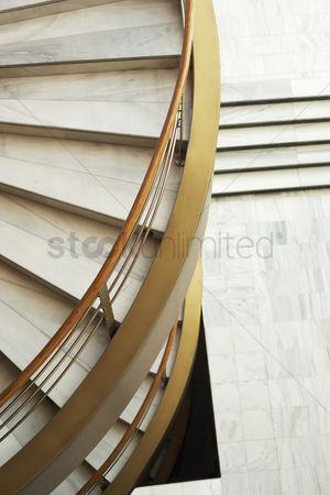 Staircase : Spiral staircase view from above