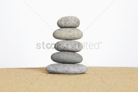 No people : Stack of pebbles