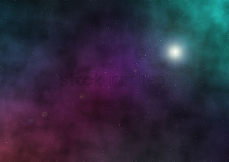 Sparkle : Starry night background design