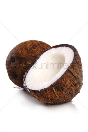 Food : Studio shot of coconut at white backround