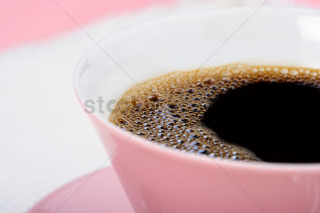 Black background : Studio shot of cup of coffee