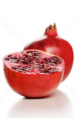 Refreshment : Studio shot of pomegranate fruit
