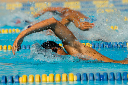 Lively : Swimmers racing