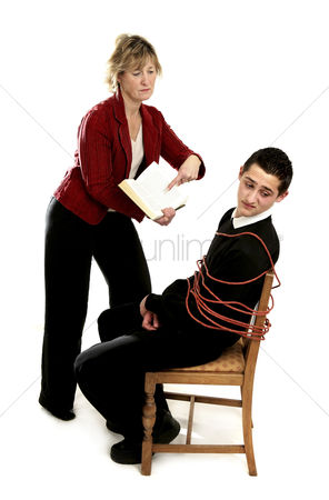 Teacher : Teacher forcing her student to study